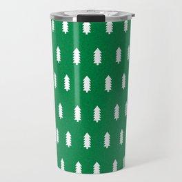 Christmas Trees minimal modern green and white holiday christmas decor Travel Mug