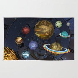 Planetary Time Spiral Rug