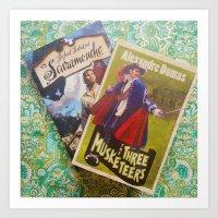 Swashbuckling Books Art Print