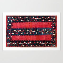 Balikesir  Antique Turkish Kilim Art Print