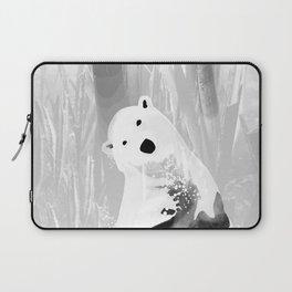 Unique Black and White Polar Bear Design Laptop Sleeve