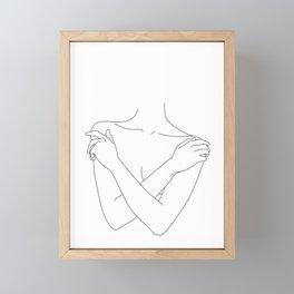 Crossed arms illustration - Joyce Framed Mini Art Print