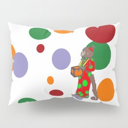 Monkey and Dots Pillow Sham