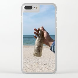 Message in a old, dirty bottle Clear iPhone Case