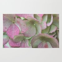 vintage flowers Area & Throw Rugs featuring Vintage Flowers by Caroline Benzies Photography