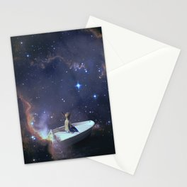 We Are Sailing - Universe, Space, Cosmos Stationery Cards