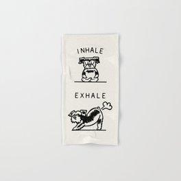 Inhale Exhale Schnauzer Hand & Bath Towel