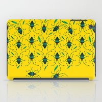 shield iPad Cases featuring Shield Bugs by yellowstudiofreo