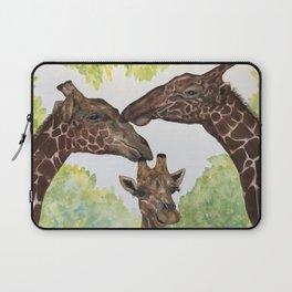 Giraffe Love by Maureen Donovan Laptop Sleeve