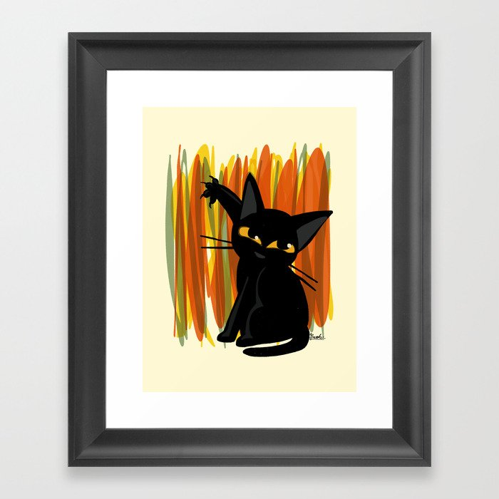 Cat artist Gerahmter Kunstdruck