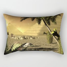 Pyramid in the sunet Rectangular Pillow