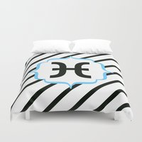 pisces Duvet Covers featuring Pisces  by Bee :)
