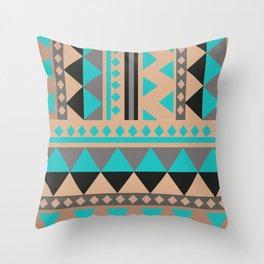 Aztec Pattern No. 28 Throw Pillow