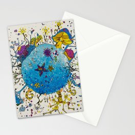 the snail planet Stationery Cards