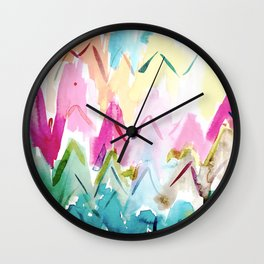 COLOR SPLURGE Chevron Waves Wall Clock