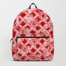 Pink Op Art Autumn Backpack