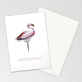 Wild Flamingos Stationery Cards
