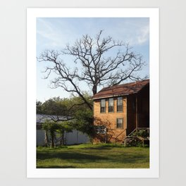 A Country Home Art Print