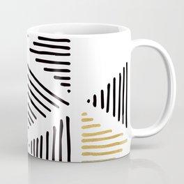 Simple Geometric Zig Zag Pattern - Black Gold White - Mix & Match with Simplicity of life Coffee Mug