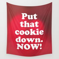 cookie Wall Tapestries featuring cookie by MelleNora