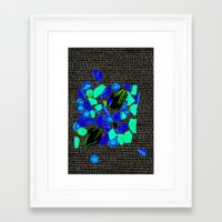 vegetables Framed Art Prints featuring Vegetables by Hannah Baklien