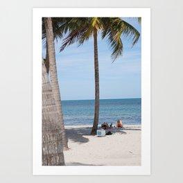 Beaching in Biscayne Art Print