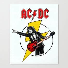 Angus Young AC/DC Canvas Print