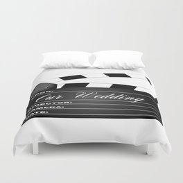 Our Wedding Clapperboard Duvet Cover
