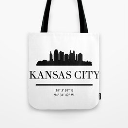 KANSAS CITY BLACK SILHOUETTE SKYLINE ART Tote Bag