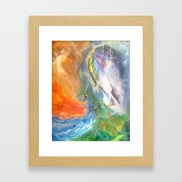 Elemental Dragons Framed Art Print