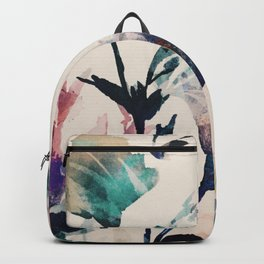 Watercolor Flowers on canvas Backpack