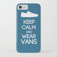 vans iPhone & iPod Cases featuring Keep calm and wear Vans by Yellow Dust