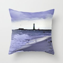 STORMY BALTIC Throw Pillow