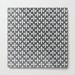 Classic Black and White Fleur de Lys Metal Print