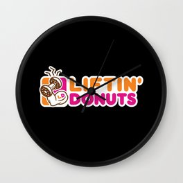 Liftin' Donuts Wall Clock