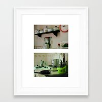 mercedes Framed Art Prints featuring Mercedes' kitchen. Trinidad, Cuba by Laura Lewis Photography