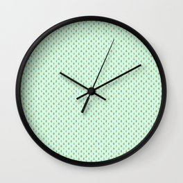 Forest Friends Woodland Animals Water Colors in Mint Green Wall Clock