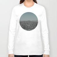 manhattan Long Sleeve T-shirts featuring Manhattan by Leah Flores