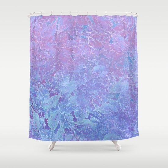 Frozen Leaves 3 Shower Curtain