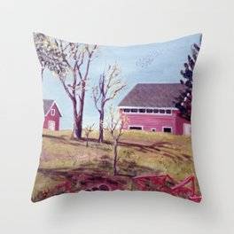 The Evangeline Trail, N.S.  Canada Throw Pillow