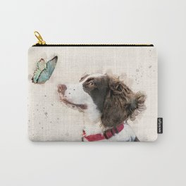 English Springer Spaniel watercolor Carry-All Pouch