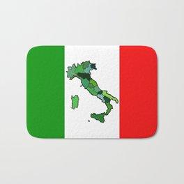 Map of Italy and Italian Flag Bath Mat