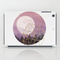 the moon iPad Cases featuring moon by Laura Graves