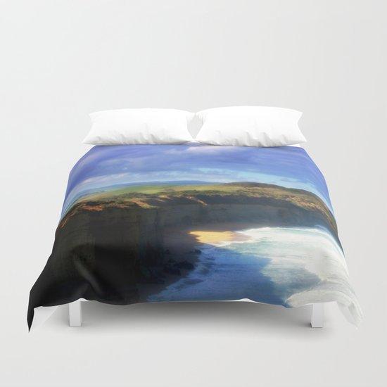Southern Ocean Headlands Duvet Cover