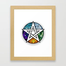 Bright Pentagram Framed Art Print
