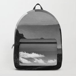 """Misty mountains"" BW. At sunset Backpack"