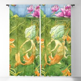 Treasures of the Lotus Nymph Blackout Curtain