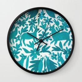 Otomi Cyan Wall Clock