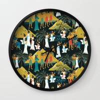 egypt Wall Clocks featuring ancient Egypt by kociara