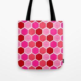 Hexagon Honeycomb Pattern – Valentine Palette Tote Bag